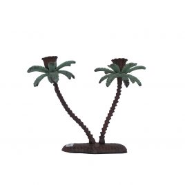 Antique Bronze Palm Tree Candle Stick (Small)