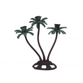 Antique Bronze Palm Tree Candle Stick (Large)