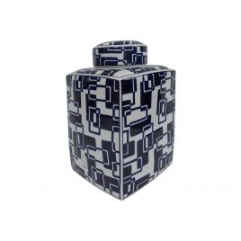 China Blue & White Small Canister