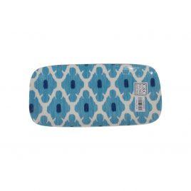Ikat pattern ceramic trey (Small)