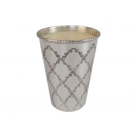 Silver plated pot w/ scented candle