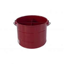Tin Utility Storage Bucket (Red)