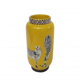 Zebra Ceramic Vase