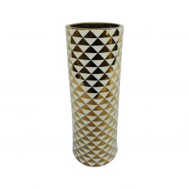 Golden pattern ceramic vase (L)