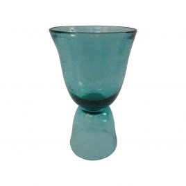 Clear Green Glass Vase (L)