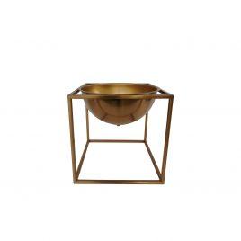 Decorative golden structure w/ pot (S)