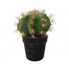 Artificial Barrel Cactus w/ pot