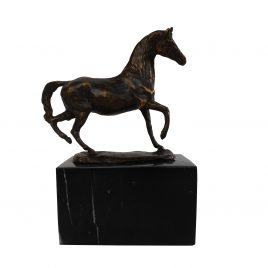 Antique Brass Horse on Base