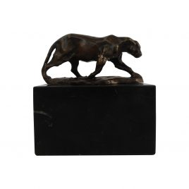 Antique Brass Tiger on Base