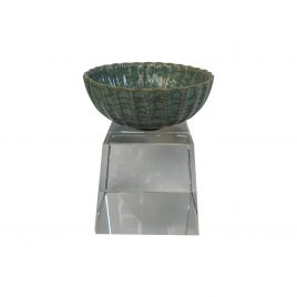 Cracked green glaze chinese ceramic bowl
