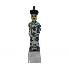 Blue & White Pocelain Chinese emperor