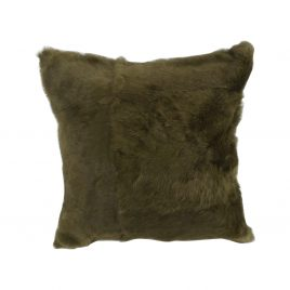 Faux Fur Black Throw Pillow