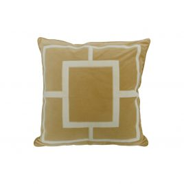 Gold Geometric Embroidery Velvet Pillow (L)