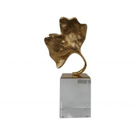 Golden Leaf Display w/ Base (L)
