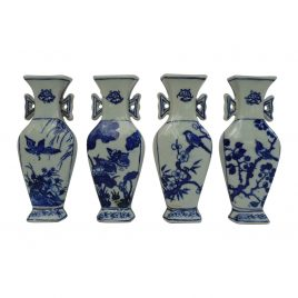 Blue & White ceramic wall vase