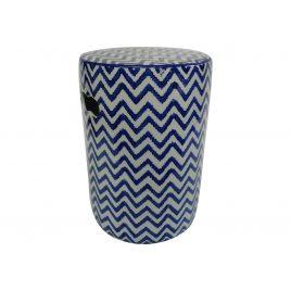 Zigzag pattern Ceramic Stool