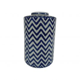 Zigzag pattern Ceramic Ginger Jar (L)