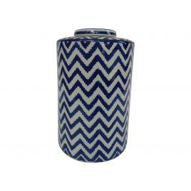 Zigzag pattern Ceramic Ginger Jar (L)