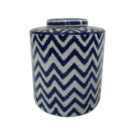 Zigzag pattern Ceramic Ginger Jar (S)