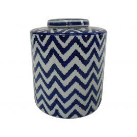 Zigzag pattern Ceramic Ginger Jar (S)