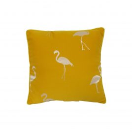 Flamingo Yelllow Throw Pillow