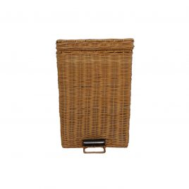 Handwoven rattan trash can (Natural color) Big