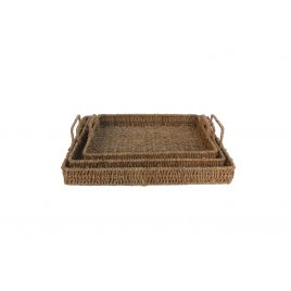 Woven Round Basket with Lid(3pcs/ set)