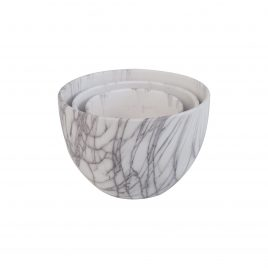 Plant Pot Printed Marble Pattern (L) (3 pcs/ set)