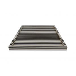 Black & White Bone Square Tray