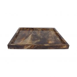 Brown Bone Square Tray
