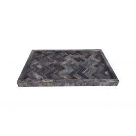 Grey Bone Rectangular Tray
