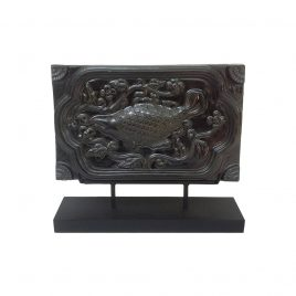 Black ceramic Fish w/stand