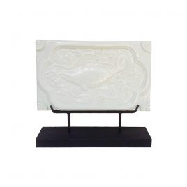 White ceramic Fish w/stand