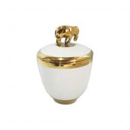 Gold Elephant Lidded Jar