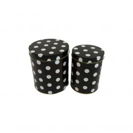 Polka Dot Metal Box (2 pcs/set)
