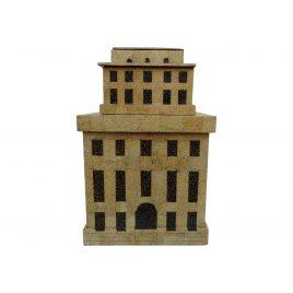 Architectural box eggshell inlay