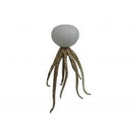 White Jellyfish Ceramic Candle Holder