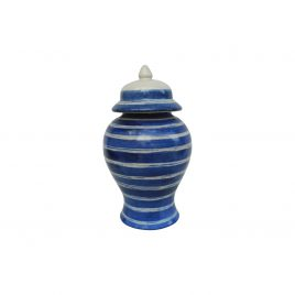 Blue Swirl Ceramic Canister