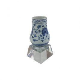 Blue & White Miniature Decorative Vase