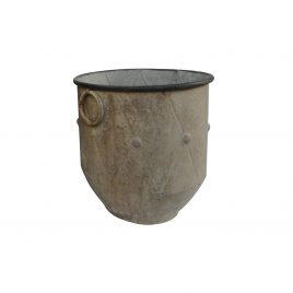 Tuscan Rustic Metal Oversized Planter (L)