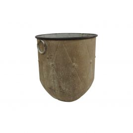 Tuscan Rustic Metal Oversized Planter (S)