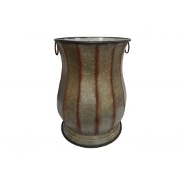French Rustic Metal Planter (L)