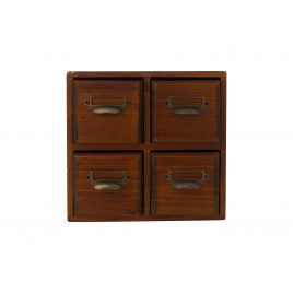 Small wooden drawer storage  (4 drawers)