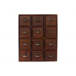 Small wooden drawer storage  (12 drawers)