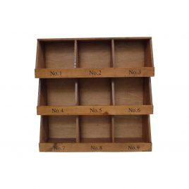 Small wooden shelves