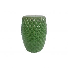 Green Diamonds Ceramic Garden Stool