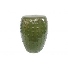 Kale dotty ceramic garden stool
