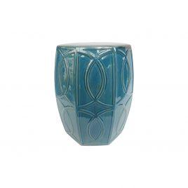 Turquoise neoteric ceramic garden stool