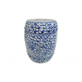 Chinese Blue and White Dynasty Ceramic Garden Stool