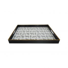Quinn Rectangular Zebra Trays (Small)